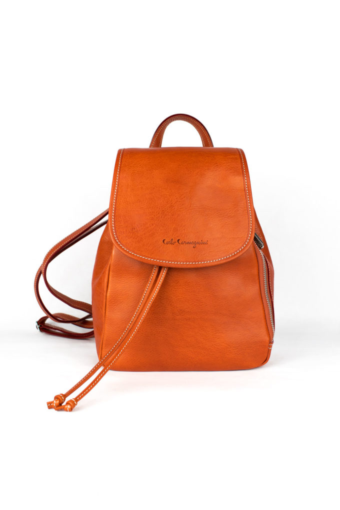 leather, backpack, made in italy, carlo carmagnini