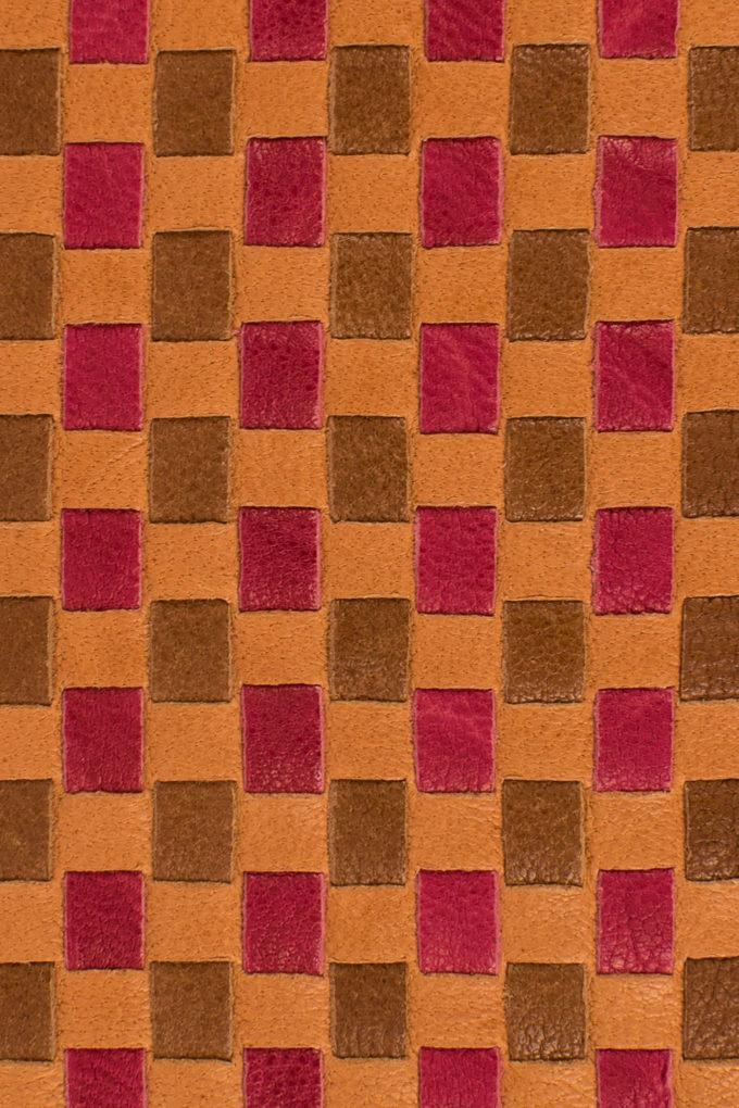 カルロ カルマニーニ、手編みメッシュレザー、イタリアンレザーウォレット、フィレンツェ製、イタリア製