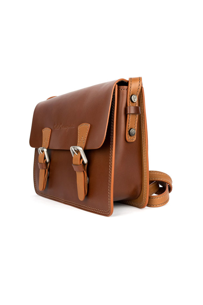 carlo carmagnini, saddle bag, college bag, made in italy, genuine leather, vegetable tanned leather