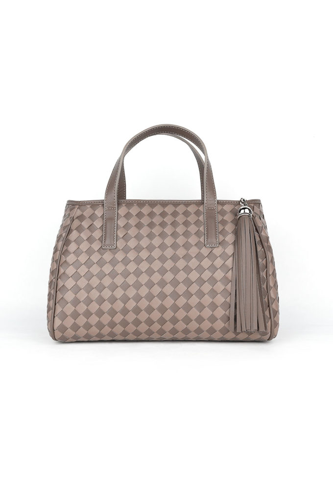 carlo carmagnini, bowling bag, woven leather bag, handwoven bag, leather bags, made in italy