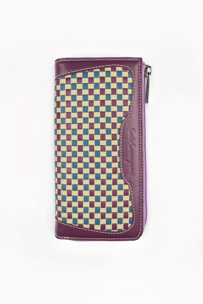 carlo carmagnini, handwoven wallet, woven leather, leather wallet, made in italy, made in florence, made in firenze