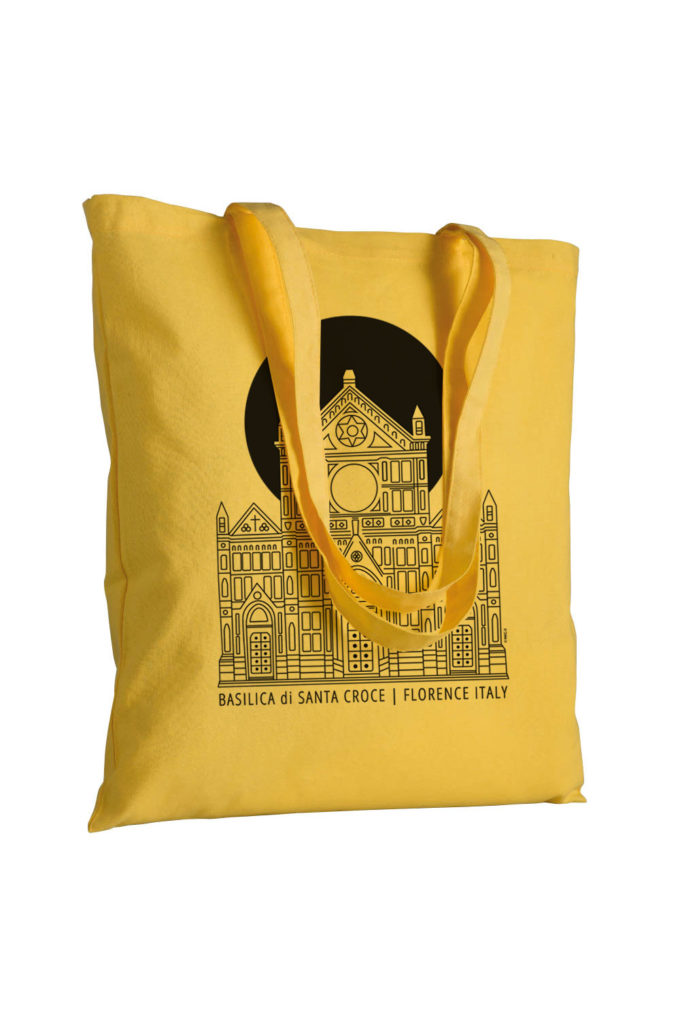 souvenir, firenze, florence, italy, santa croce, tote bag, cotton bag, canvas bag, inkc, inkc studios