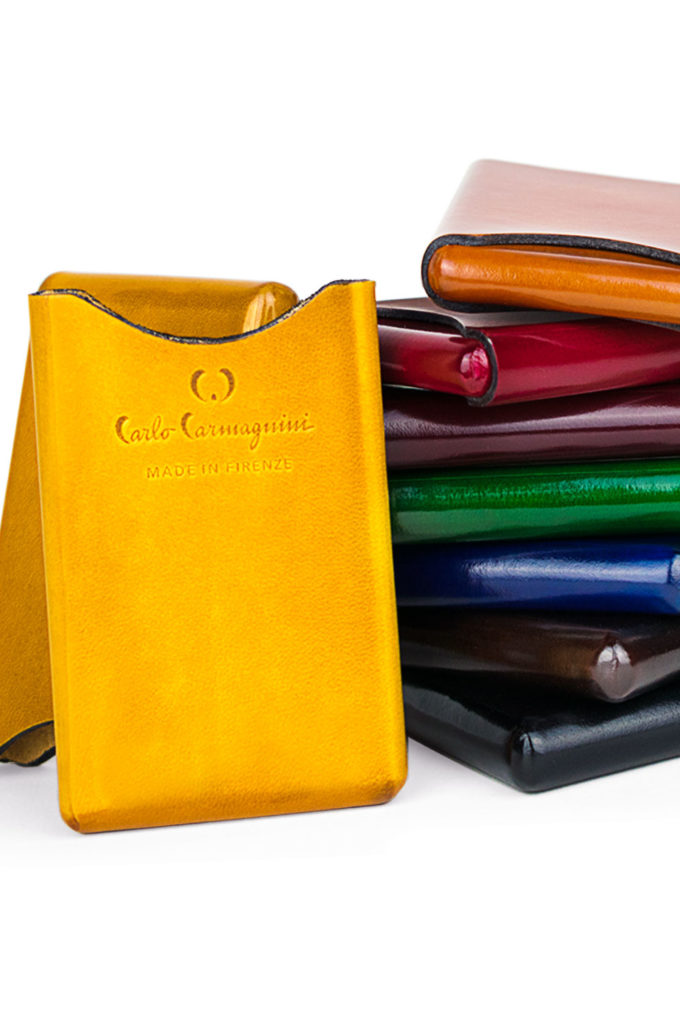 carlo carmagnini, card holder, leather card holder, handmade card holder, tacco fiorentino, made in florence, made in italy, firenze