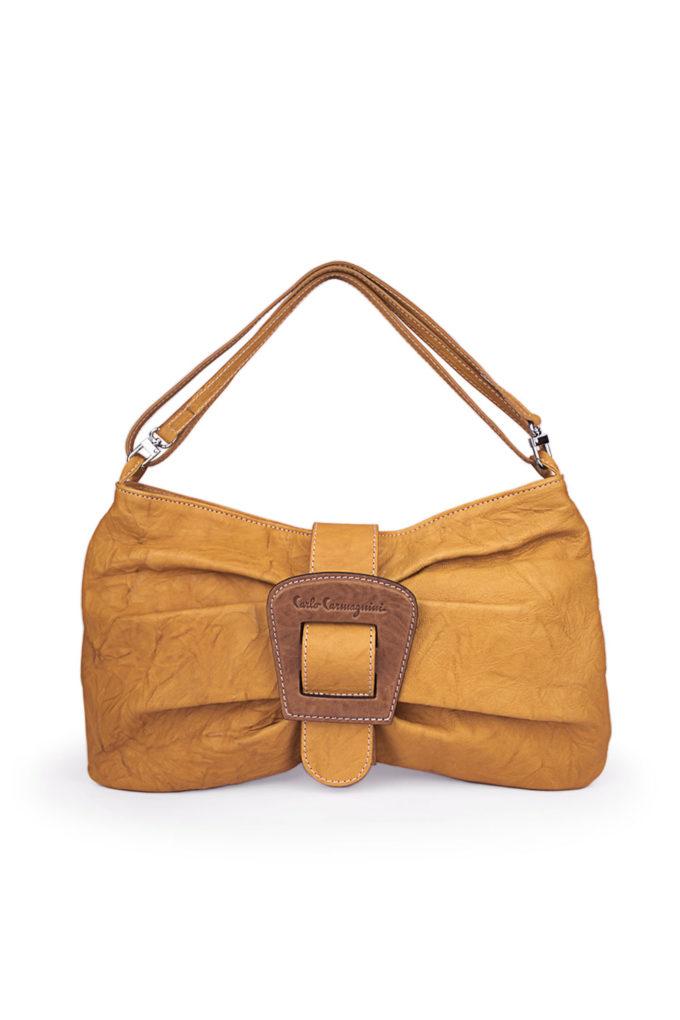carlo carmagnini, ribbon bag, crossbody bag, made in italy, soft leather bag, bow bag