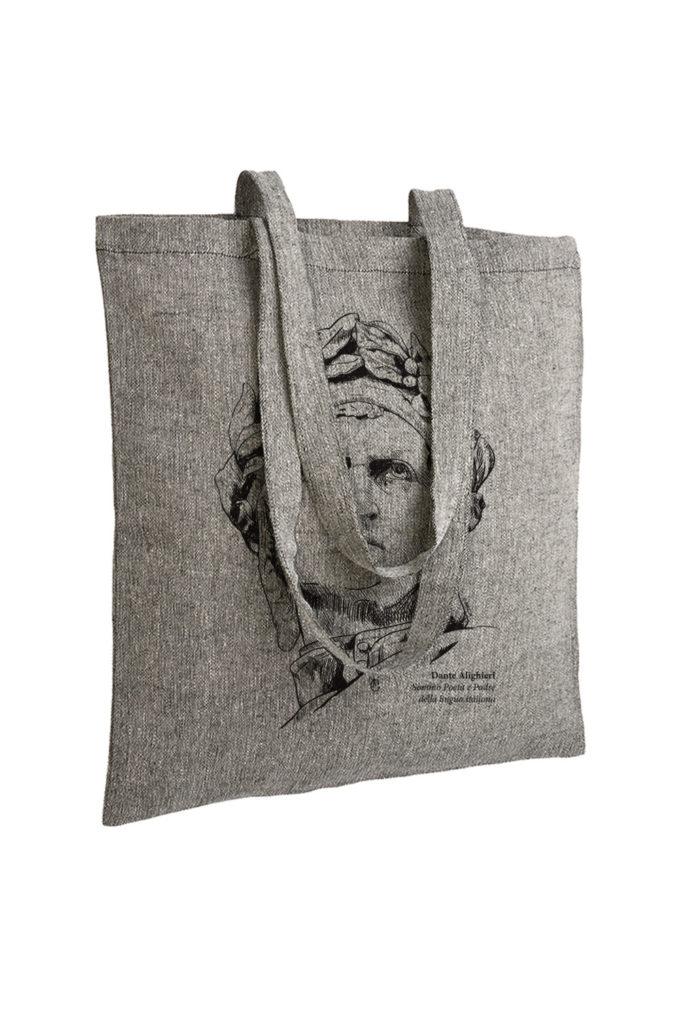 dante alighieri, divina commedia, firenze, florence, tote bag, souvenir, inkc souvenirs, inkc, adrimar, adrimar firenze